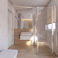 Baños de estilo  por BAGUA Pracownia Architektury Wnętrz