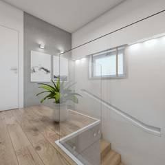 Corridor & hallway by BAGUA Pracownia Architektury Wnętrz, Scandinavian