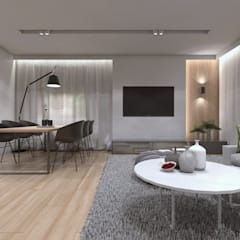 Living room by BAGUA Pracownia Architektury Wnętrz, Modern