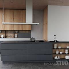 Repräsentative Villa in der Slowakai:  Küche von MIKOLAJSKAstudio,Modern