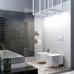 Repräsentative Villa in der Slowakai:  Badezimmer von MIKOLAJSKAstudio