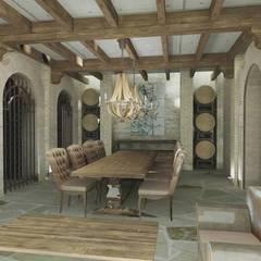 : Bodegas de estilo  por Azcona Vega Arquitectos