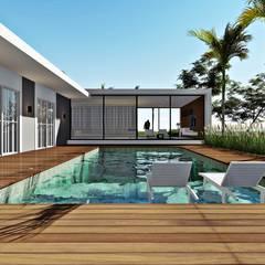 Pool by Lopes e Theisen Arquitetura, Minimalist Concrete
