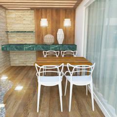 Área externa: Jardins minimalistas por Cartibani Arquitetura