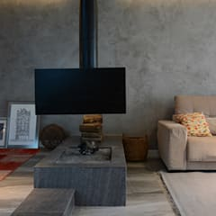 Residência FKL: Salas multimídia  por Bloco Z Arquitetura,Minimalista