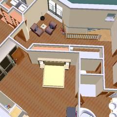 O novo plano do primeiro andar-3D1: Quartos de criança  por D O M   Architecture interior