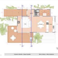 Anteproyecto Casa SZ: Cocinas de estilo  por Paico,Rústico