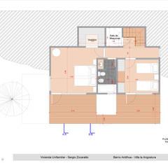 Anteproyecto Casa SZ Dormitorios rústicos de Paico Rústico