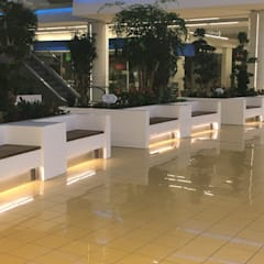 matdizayn – Bank ve çiceklik:  tarz Havuz