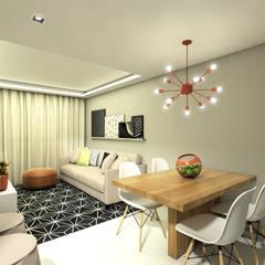 APARTAMENTO | LB: Salas de jantar  por Beiral Arquitetura e Urbanismo