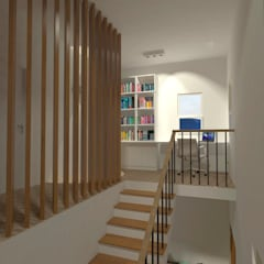 Residencia DW: Escritórios  por Pereira Cunha Arquitetos