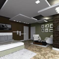 Dormitorios de estilo  por HC Arquitecto