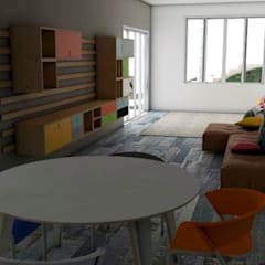 casa BG: Salas multimídia  por Mais Arquitetura 34