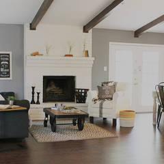 Home Staging San Antonio Tx Leon Valley: Salon: Salas de estilo rústico por Noelia Ünik Designs
