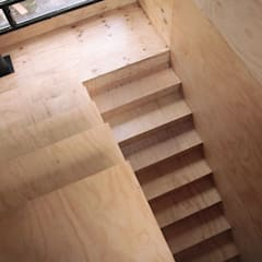 Casa en Volcanes Pasillos, vestíbulos y escaleras escandinavos de Paico Escandinavo Madera Acabado en madera