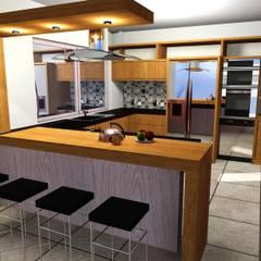 MAQUETAS VIRTUALES / ANTEPROYECTOS: Cocinas de estilo  por EL DIVÁN Arquitectura & Diseño de Interiores