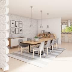 Residencia SLP: Comedores de estilo  por Dania MStudio