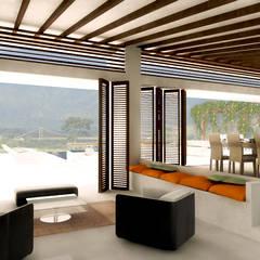 CASA _ M+A _ Santa Fe de Antioquia: Casas de estilo  por @tresarquitectos