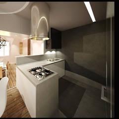 Reabilitação e Remodelação de apartamento / Apartment remodel and renew: Cozinhas  por Linhas Simples