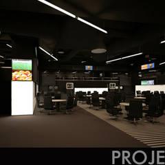 Sala de Bingo / Bingo room - Projectado / planned: Bares e clubes  por Linhas Simples