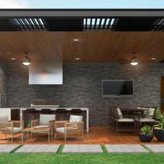 بالکن،ایوان وتراس by HZH Arquitectura & Diseño