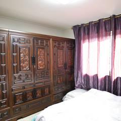 꿈속의 동화같은 단층 목조주택: 꿈애하우징의  침실