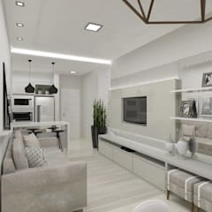Living room by Aline Bassani Arquitetura, Modern MDF