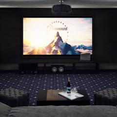 Домашний Кинозал Астана : Медиа комнаты в . Автор – InsaitDesign, Лофт