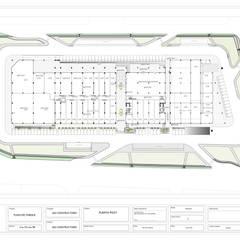 Centro Comercial Plaza del Parque: Centros comerciales de estilo  por RCRD Studio