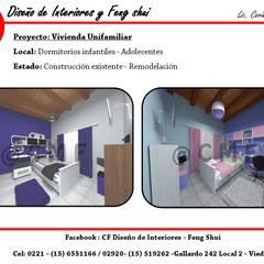 Vivienda Unifamiliar: Dormitorios infantiles de estilo moderno por CF Diseño de interiores y Feng Shui