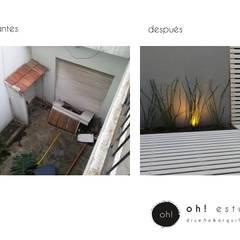 proyecto OFICINAS ESTUDIO Y CONSTRUCTORA : Jardines de invierno de estilo  por OH! estudio diseño & arquitectura