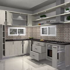 Cocina Departamento: Cocinas de estilo  por Muebles del angel