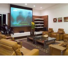 Salas multimedia de estilo  por Luciana Savassi Guimarães arquitetura&interiores