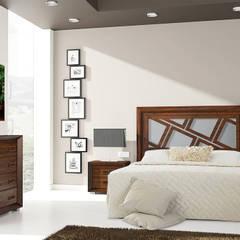Dormitorio con modelo cascada: Paredes de estilo  de Fotoceramic