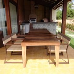 Área gourmet da casa no Cerro Azul: Cozinhas  por Repsold Projetos e Design