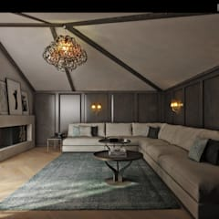 ÖZHAN HAZIRLAR İÇ MİMARLIK – Betil evi:  tarz Oturma Odası