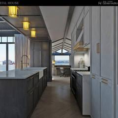 ÖZHAN HAZIRLAR İÇ MİMARLIK – Betil evi:  tarz Mutfak