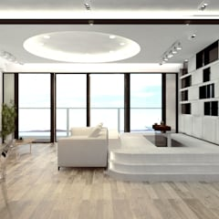 Mayfair By The Sea:  Living room by Much Creative Communication Limited