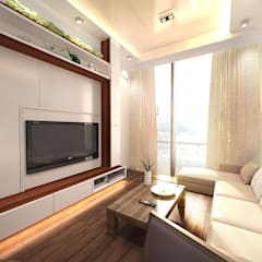 6/F TOWER 6 METRO TOWN PHASE 2 LE POINT:  Living room by Much Creative Communication Limited