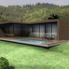 Moradia Santo da Serra: Casas  por Desicon Desenho e Construção Civil lda,Minimalista Madeira Acabamento em madeira