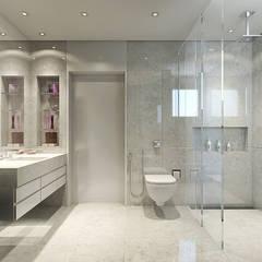 Banho Senhora: Banheiros modernos por STUDIO GUTO MARTINS