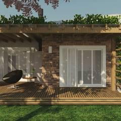 Casa de campo _ MJ: Casas rústicas por Cíntia Schirmer | Estúdio de Arquitetura e Urbanismo