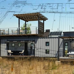Pop Up retreat - Shipping Container living:  Houses by Edge Design Studio Architects,