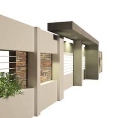 FACHADA INGRESO VIVIENDA FAMILIAR: Casas de estilo  por OFICINA arquitectura&diseño