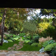 JARDIN DE SOUS-BOIS // Choisy-le-Roi (94): Jardin de style de style Rustique par Sophie coulon - Architecte Paysagiste