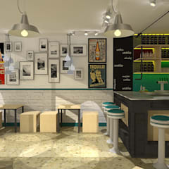 Bar- Restaurante Tinaco. : Restaurantes de estilo  por SCABA EQUIPAMIENTO Y ARQUITECTURA COMERCIAL , C.A.