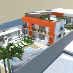 Posada Turística Sunset Choroni Paradise. : Hoteles de estilo  por SCABA EQUIPAMIENTO Y ARQUITECTURA COMERCIAL , C.A.