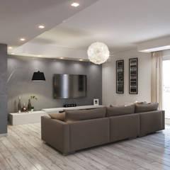 Ristrutturazione appartamento con linee moderne : Soggiorno in stile  di Beniamino Faliti Architetto
