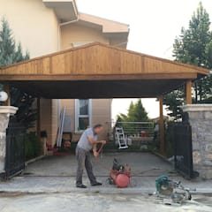 M2O Mimarlık Tasarım Ltd Sti – ROSE GARDEN KONAKLARI, ANKARA:  tarz Garaj / Hangar,
