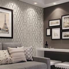 Sala de estar: Salas de jantar clássicas por Lúcia Vale Interiores